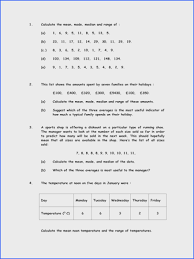 Mean Median Mode Range Worksheets | Rosenvoile.com