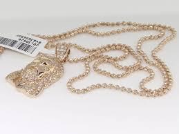 10k rose gold mens las mini face head diamond piece pendant charm 1 ct