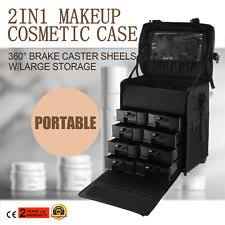 item 2 pro black 2in1 soft sided rolling makeup case cosmetic train bag w drawer artist pro black 2in1 soft sided rolling makeup case cosmetic train bag
