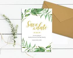 Save The Date Cards Templates Greenery Save The Date Template Download Printable Save The Date