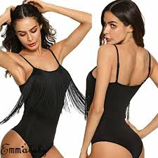 Hirigin Sexy <b>Tassels One Piece</b> Swimsuit Women Unpadded Pure ...
