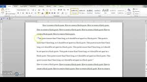 How To Create A Block Quote Using Chicago Style Guidelines