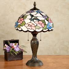 sweet nectar stained glass table lamp multi pastel each with cfl bulb touch to zoom