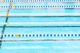swimming pool for peion with race tracks or lanes