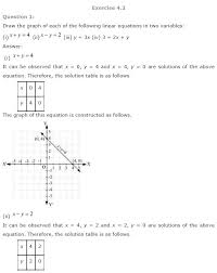 ncert solution for class 9th chapter4 linear equations in two variables