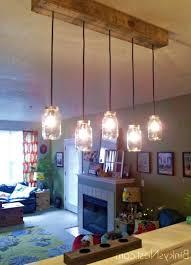 amazing mason jar pendant light diy rustic pallet light fixture images