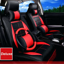 car seat car seat covercom breathable 5 full set leather cushion cover luxury red black