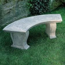 designer garden stone bench cast stone
