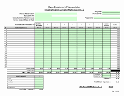 Sample Estimate Forms For Contractors Construction Estimate Form Subcontractor Invoice Template