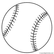 Baseball Coloring Page Sports