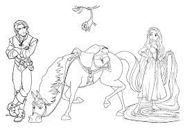 Small Picture Rapunzel Coloring Pages To Print Free Printable Disney Princess