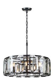 1211 monaco collection chandelier d 30in h 12in lt 8 flat black matte finish 1211d30fb elite fixtures