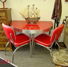 accro rl05cm cola red gloss half round table 26 x 42 2 baron scarlet chairs n57