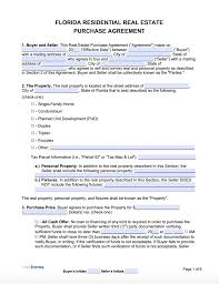 If yes, then we strongly recommend you to download and use our free sales agreement template to do so effectively. Free Florida Real Estate Purchase Agreement Template Pdf Word