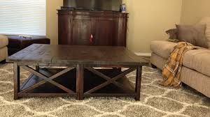 large dark wood coffee table with ana white rustic x square oversized coffee table diy projects 2