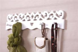 vintage wall hooks free ship white coat hook modern brief love decoration hangers shabby chic