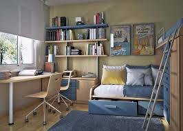 master bedroom office ideas light brown white bed cartoon wall picture white standing lamp brown tile floor white box wall bookcase bedroom office ideas