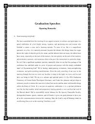 COMMENCEMENT SPEECH; 3. Graduation Speeches Opening ...