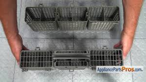 dishwasher silverware basket assembly part 5005dd1001a how to replace