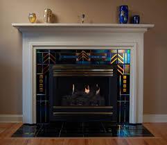 pretty classic fireplace tile design ideas