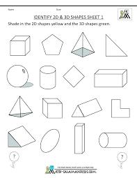 3d Shapes Worksheet For Kindergarten And Shapes Worksheets Printable ...