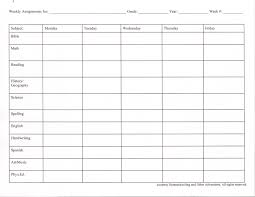Weekly Homework Assignment Sheet Vehicle Timesheet Template Instantly Create Your Resume