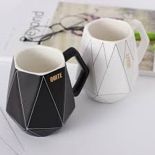 Pam Creative Polygonal Ceramic Coffee Mug Office Coffee Milk Protein Cups And Mugs Travel Cool Mugs Customon Creative Polygonal Ceramic Coffee Mug Office Coffee Milk Protein