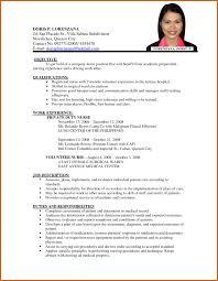 Resume For Job Application Resume Name