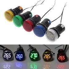 22mm Indicator Lights 22mm Ac 50 380v Thermometer Indicator Light Led Digital Display Temperature Measuring Induction Ranging 20 199
