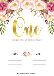 fl invitation template beautiful free printable 1st birthday invitation vine style