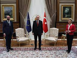 Two Presidents Visited Turkey. Only the Man Was Offered a Chair.
