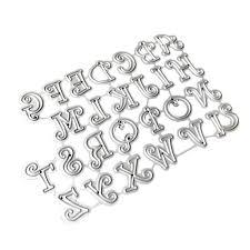 <b>Carbon Steel Cartoon</b> Capital Letters Cutting Die Stencil Template ...