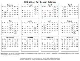 2019 And 2020 Active Duty Military Paydays With Printables