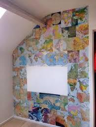 diy project mapsession elsevier upcycling oude wereldatlas home office loveit af home office