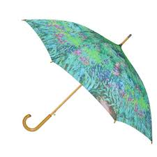 new ctm women s auto open monet print stick umbrella