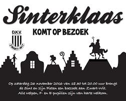 Sinterklaas Voor Welpen F E Korfbalvereniging Dkv Zwart Wit