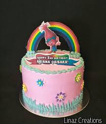 Trolls Birthday Cake Need A Customised Cakes Contact Us At 86069748