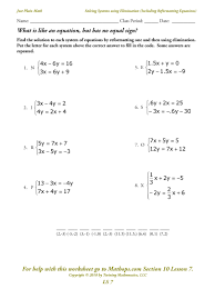 systems of equations by substitution worksheet free worksheets