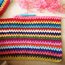 V Stitch Crochet Pattern Extraordinary V Stitch Stripes Le Monde De Sucrette