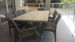 outdoor table and chairs. Beautiful Whitewashed Teak Outdoor Furniture Table And Chairs 3