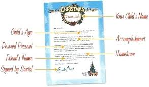Free Letter From Santa Word Template A Letter To Santa Template