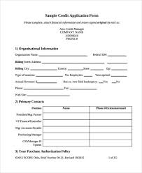 15 Credit Application Form Templates
