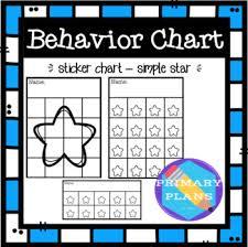 Behavior Sticker Charts Simple Star
