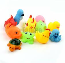 soft rubber float sqeeze sound baby wash bath play animals cute toys bath toy bath toy 10pcs lot soft rubber float sqeeze sound with 26 53 set