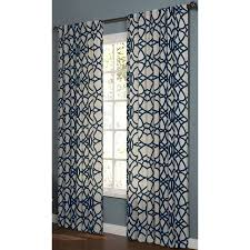 Navy And White Curtains Shop Allen Roth Oberlin 84 In Navy Cotton Back Tab Light