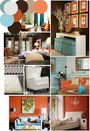 Coral Painted Rooms Color Palette Inspo Chocolate Brown Coral And Robins Egg Blue