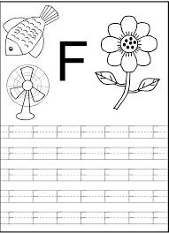 Kindergarten Letter F Worksheet For Preschool And Kindergarten ...