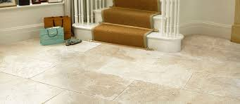 savannah travertine tiles on hallway floor picture