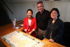newcomer entrepreneurs rejuvenating tourism operations prince l to r teresa tu program officer at iidi office of