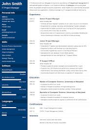 Free Online Modern Resume Maker The Best Resume Builder Online Fast Easy To Use Try For